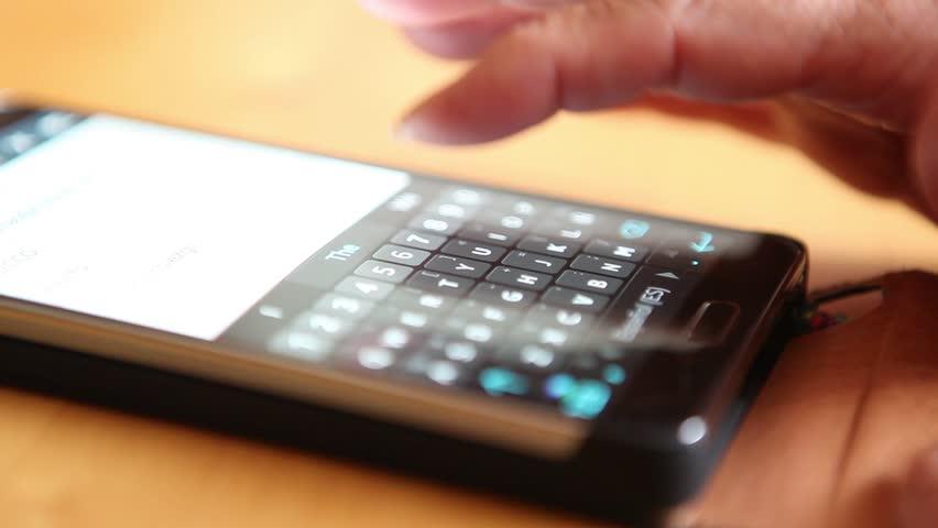 Elderly Woman writing on Smart Phone | Shutterstock HD Video #7405471
