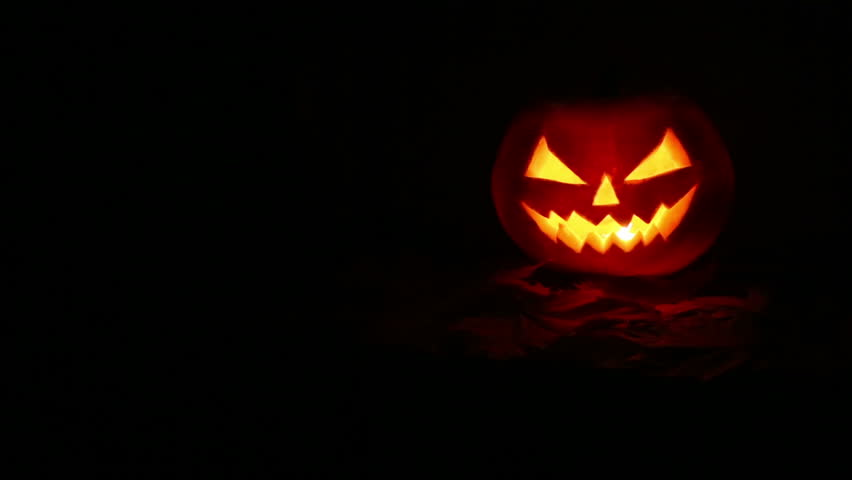 halloween pumpkin at night hd stock video clip - Halloween Background Video