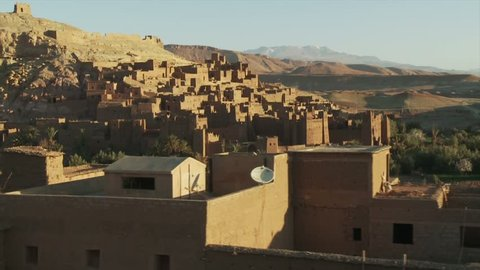 Ait-Ben-Haddou, Marokko Flugaufnahme