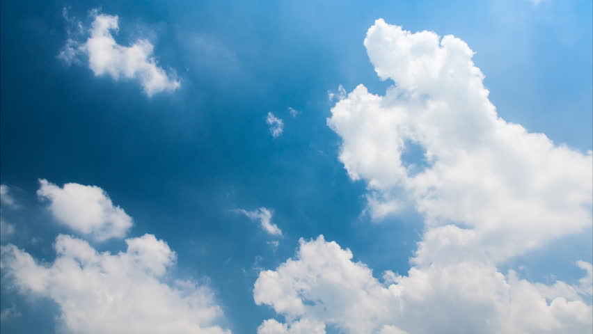 Timelapse of passing clouds at noon in Bangkok,Thailand | Shutterstock HD Video #7488241