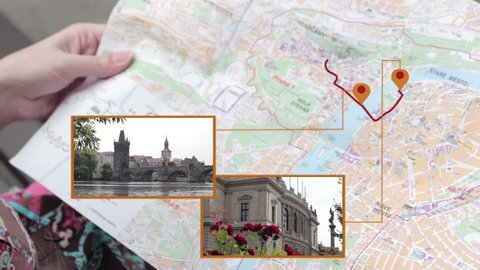 Interactive map of Prague for tourists