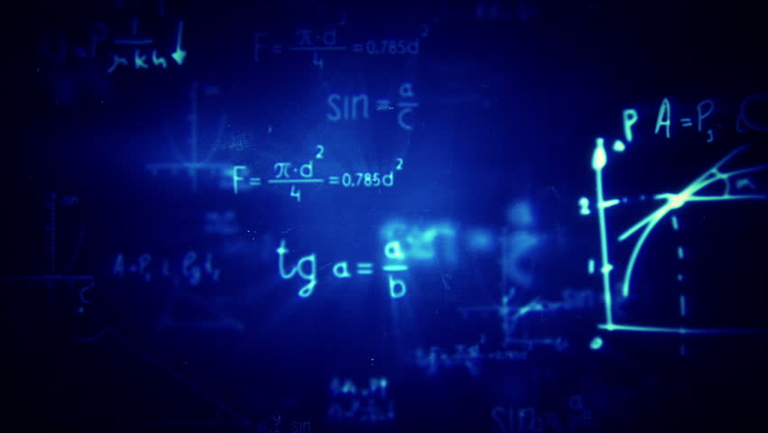 Floating mathematical formulas loop animation. Blue background. Flying through different mathematical formulas. 2 colors to choose.  | Shutterstock HD Video #7559620