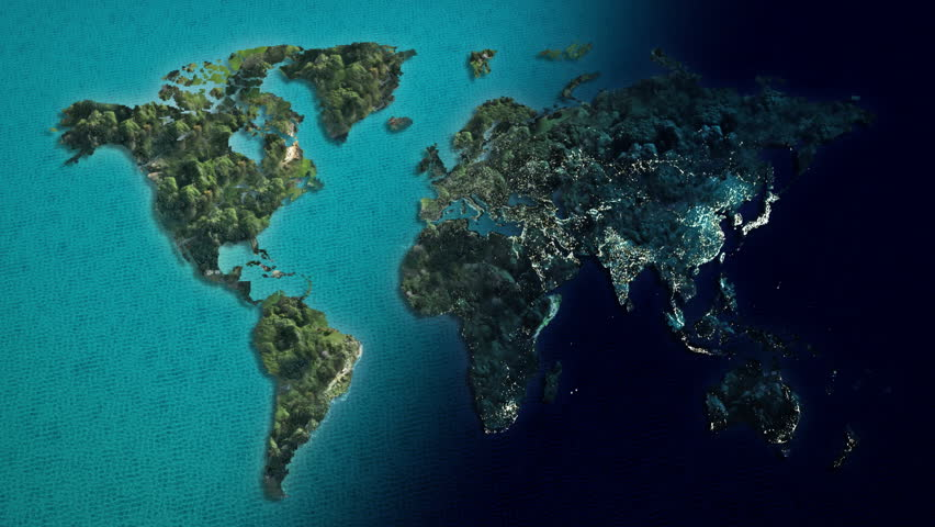 Global world map animation separate to day and night asia map global world map animation separate to day and night hd stock video clip gumiabroncs Images