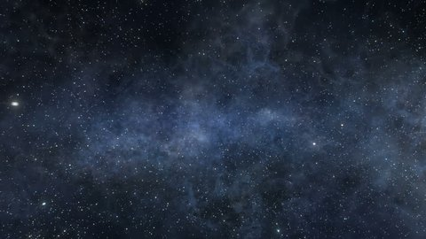 Space part two. Flight through the depths of outer space. New stars and nebulas patterns. More color variations.