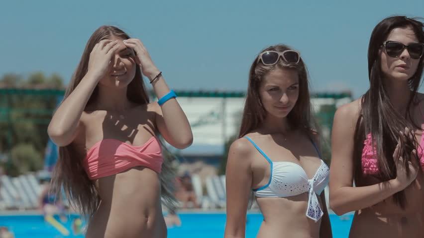 Bikini model video young