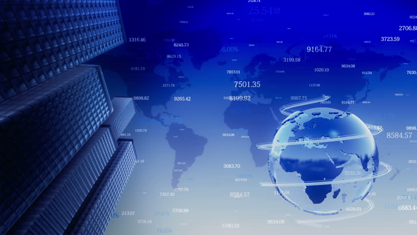 Business background with rotating planet. Loop animation. | Shutterstock HD Video #7651624