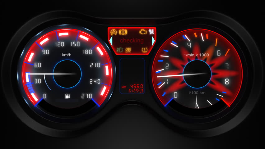 car dashboard, 3d animation