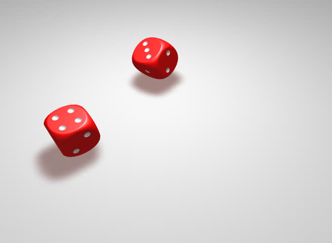 Two rolling dices giving 4 and 4 combination | Shutterstock HD Video #770068