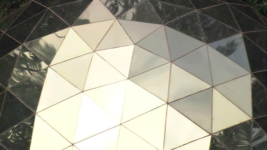 Stock video of aerial- geodesic dome, brumadinho, brazil | 7724221 ...