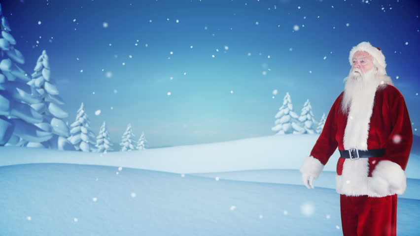 Digital animation of santa delivering a christmas greeting in snowy digital animation of santa delivering a christmas greeting in snowy landscape stock footage video 7742581 shutterstock m4hsunfo Images