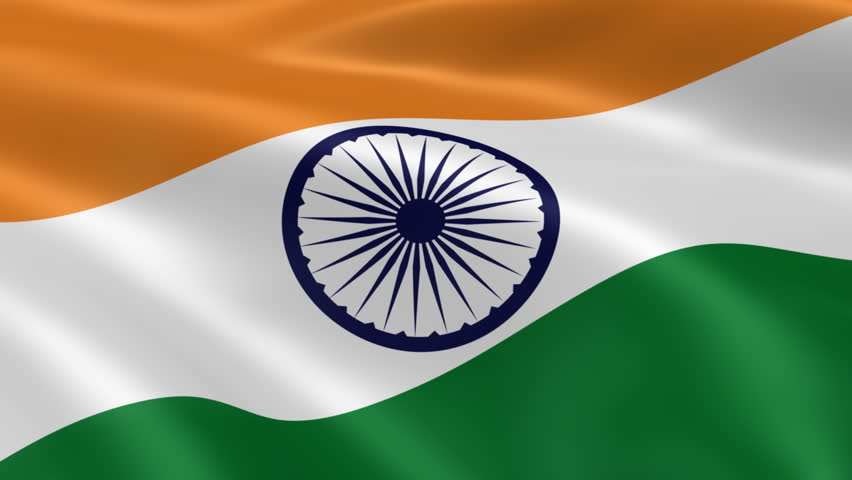 Flower With Indian Flag Hd: Flag Of India Waving With Realistic Cloth Texture