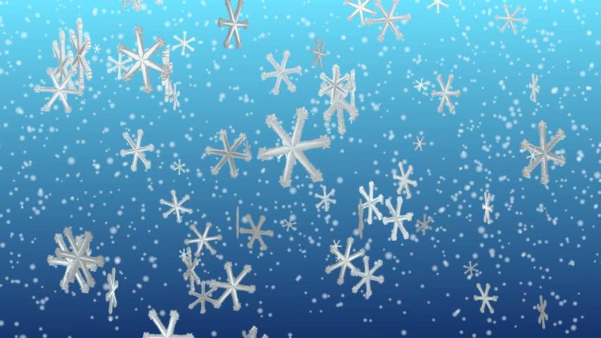 animated snowflakes festive seasonal background stock