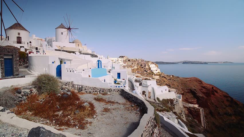 Santorini island. Greece - HD stock footage clip