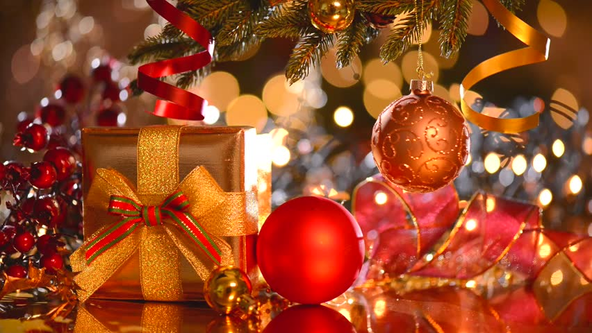 decorated christmas tree with gifts christmas and new year celebration holiday christmas scene - Videos Of Decorated Christmas Trees