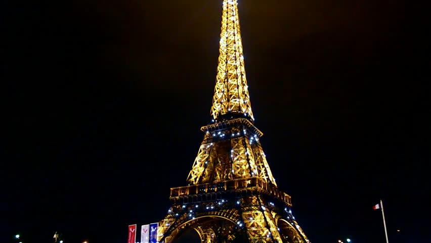 Paris Dec 31 Light Stock Footage Video 100 Royalty Free