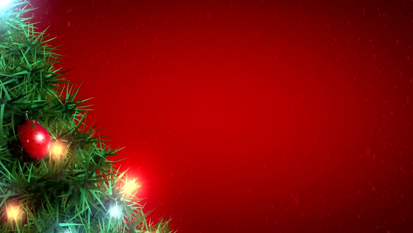 christmas tree on red background video de stock totalmente libre de regalas 7965961 shutterstock - Red Christmas Background