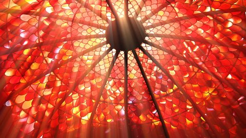 Sun shining through a stained glass roof (Seamless Loop)