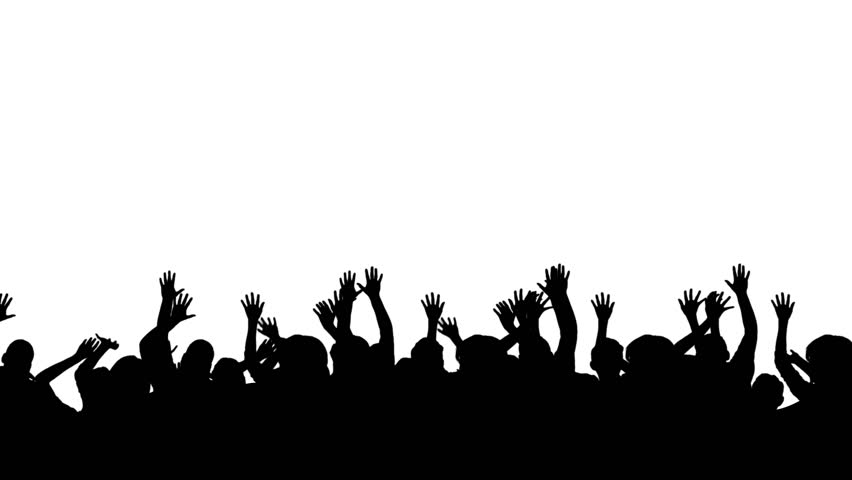 stock video of crowd silhouette of people having fun 7969981 shutterstock clip clip art leader cap clipart black and white