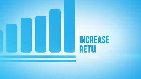 Return on investment animation bar graph presentation
