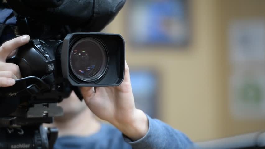 camera operator working with a cinema broadcast