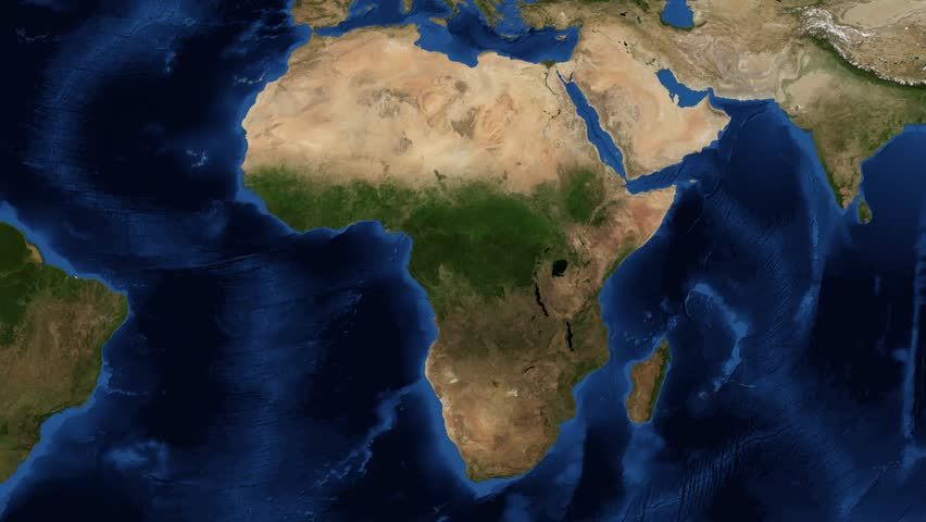 africa map with zoom