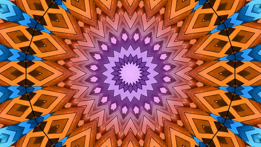 4K Colorful looping kaleidoscope sequence. Abstract motion graphics background. 4K UHD 4096 x 2304 ultra high definition