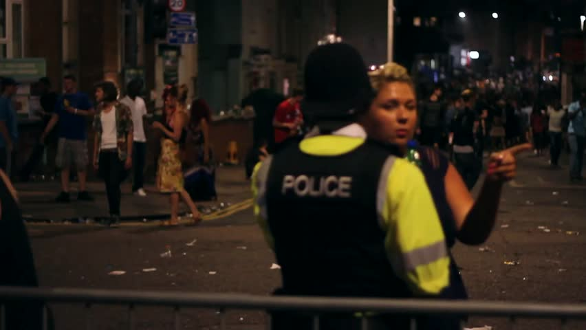 BRISTOL - July 6: Police on Duty at St Pauls Carnival - July 6 2013 in Bristol England
