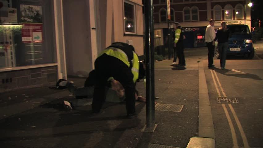 BRISTOL - July 6: Man Arrested at St Pauls Carnival - July 6 2013 in Bristol England