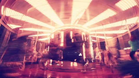 Seamless loop merry-go-round timelapse shot in Florence, Italy. Wide angle version.