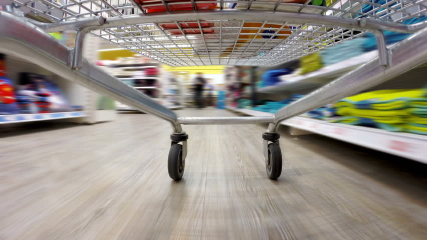 Crazy fast speed of supermarket trolley | Shutterstock HD Video #8032840