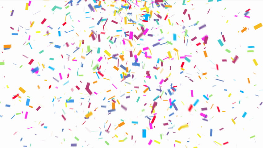 stock video of animation of colorful confetti falling on streamer clip art black streams clip art photos