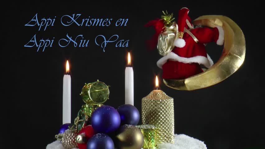 Stock video of christmas greeting and new year wishes 8062141 hd0029christmas greeting and new year wishes in the nations own language at a live moving christmas card m4hsunfo