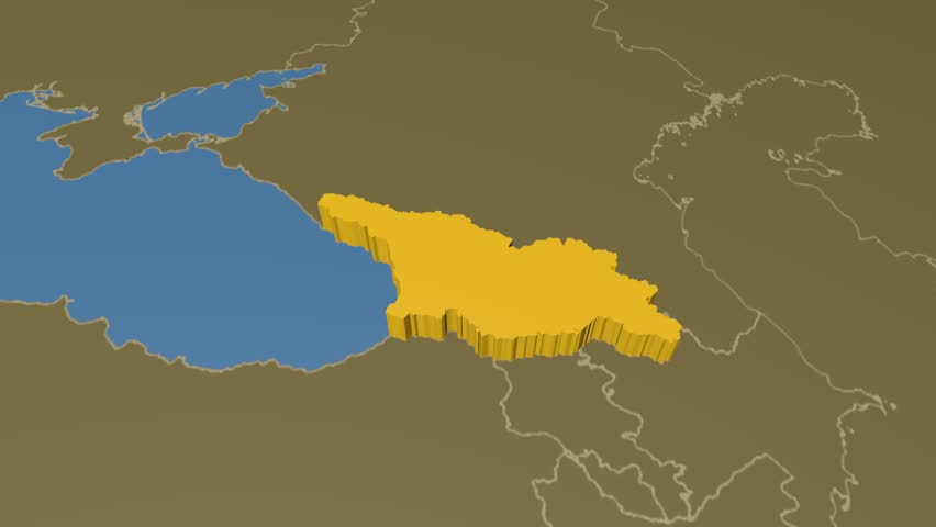 Iran extruded on the world map with administrative borders solid georgia extruded on the world map with administrative borders solid colors used 4k gumiabroncs Images