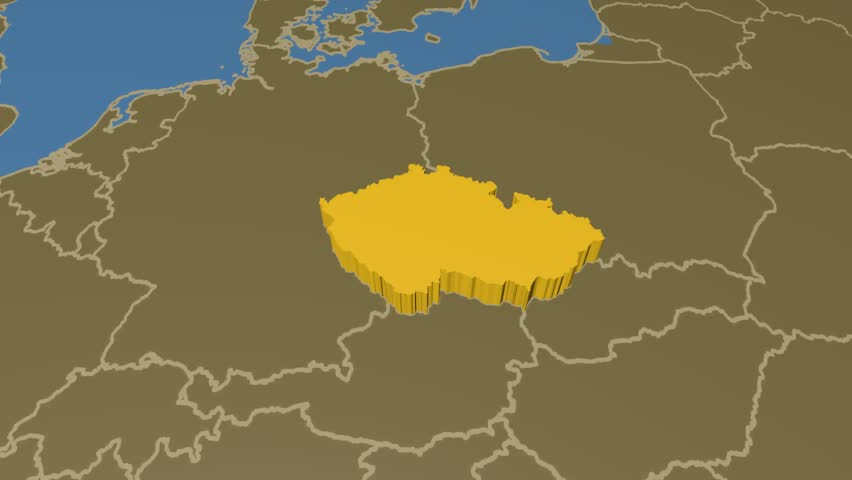 An animated map with the year 1870 soldiers fighting world war i czech republic extruded on the world map with administrative borders solid colors used gumiabroncs Image collections