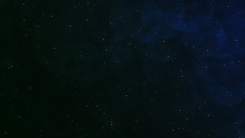 Abstract space loop with slow moving stars and blue / green glow