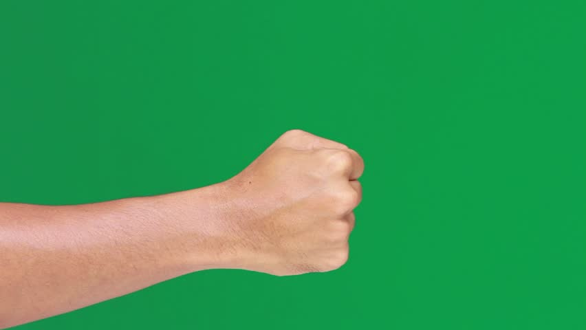 thumbs up green screen hd stock footage clip