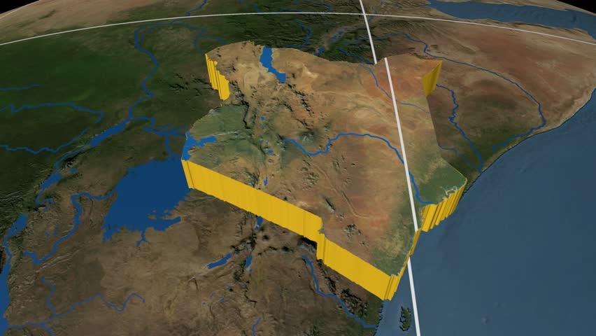 Kenya Map Stock Footage Video Shutterstock - Kenya rivers map