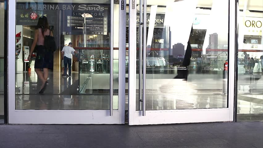 SINGAPORE - JULY 2014: Entry to Marina Bay Shop. #8191411