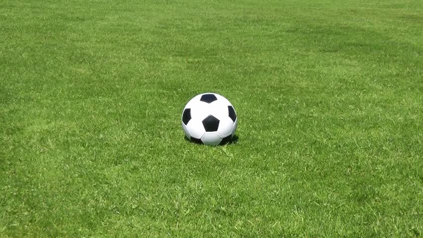 Soccer Ball Rolling On Grass Stock Footage Video 6360152 ... Rolling Soccer Ball
