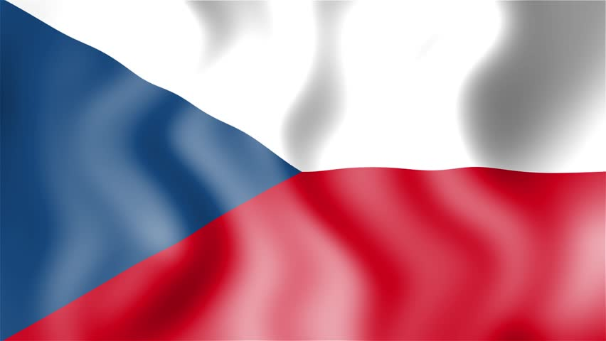 Waving National Flag Of Czech Republi