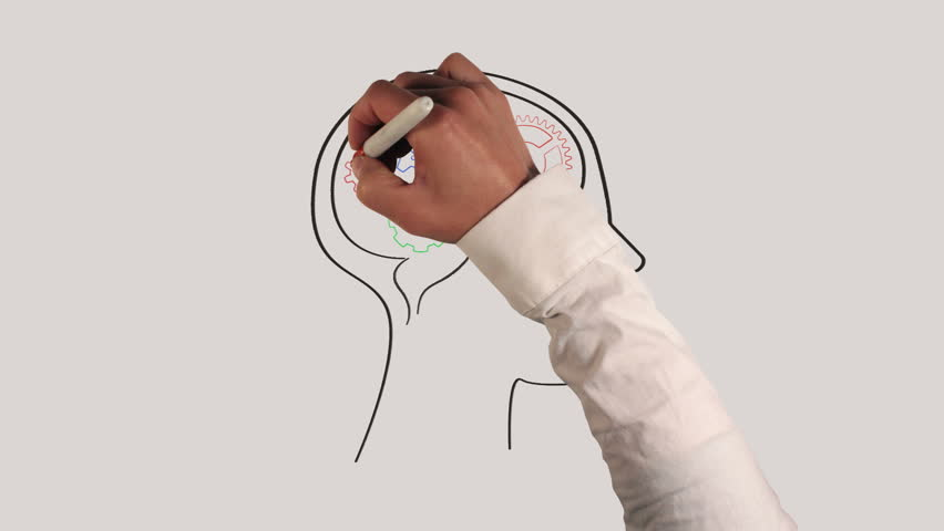 Gears in Human Brain Whiteboard Animation with Sound
