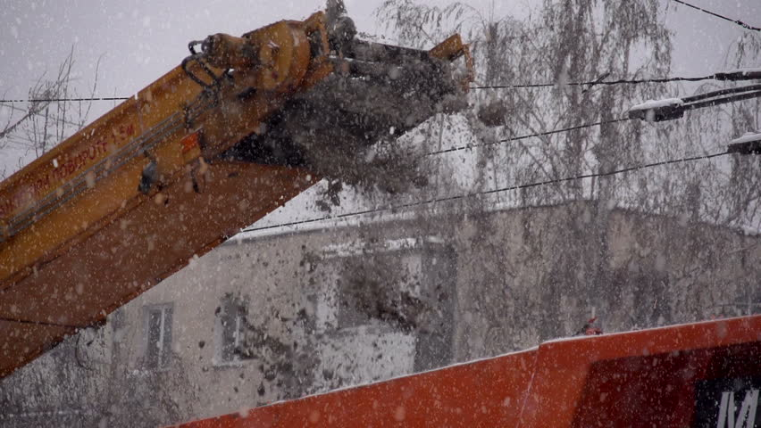 Snowplows in Action  Snow Falls Stock Footage Video (100% Royalty-free)  8266501 | Shutterstock