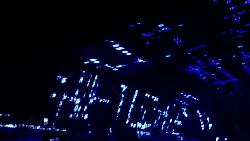 In The Nightclub Interior Still Corner Led And Light Beam 1080 Nosound   HD  Stock Footage