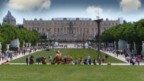 Crowds Of Tourists At Versailles, France