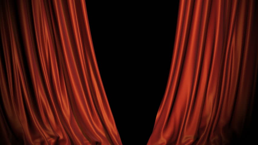 Red and blue curtains opening. Alpha channel included in the end of the clip. | Shutterstock HD Video #835171