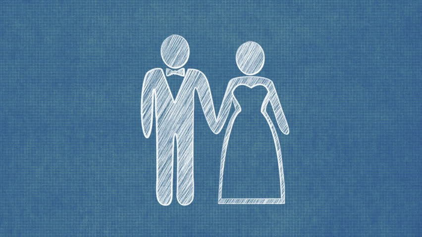 Married couple blueprint stop motion style animation stock footage married couple blueprint stop motion style animation stock footage video 8374531 shutterstock malvernweather Images