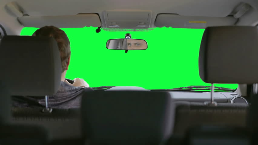 Green Screen Car Driving Background