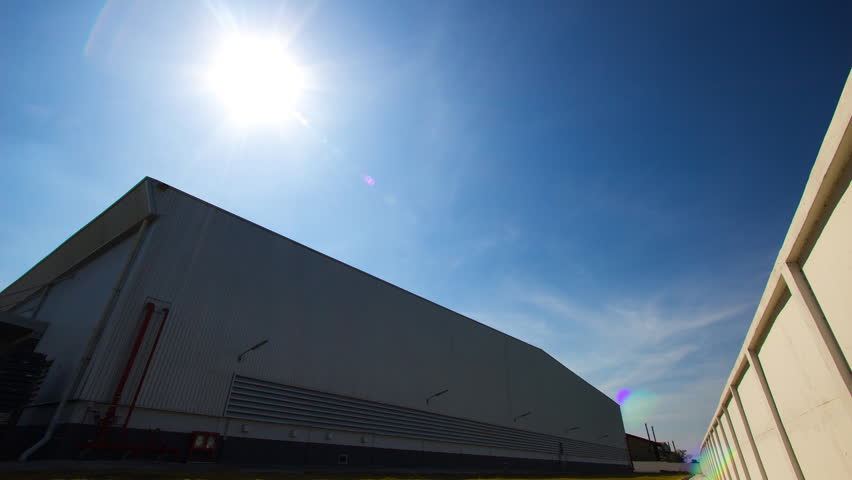 Afternoon of warehouse. Timelapse. | Shutterstock HD Video #8436091