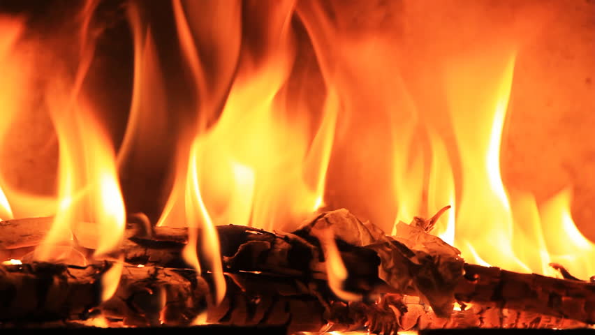 Burning Paper In The Fireplace. HD 1080p Stock Footage Video ...
