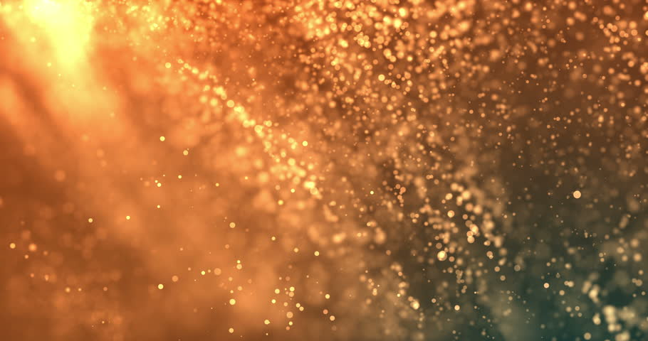 Seamless golden glittering particle background in 4K